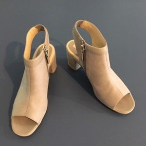 Ecco Tabora 60 Formal Grey Leather Block Sandals